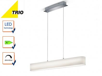 Trio LED Stoffschirm Pendelleuchte LUGANO dimmbar, Lampe Esstisch Küchenlampe