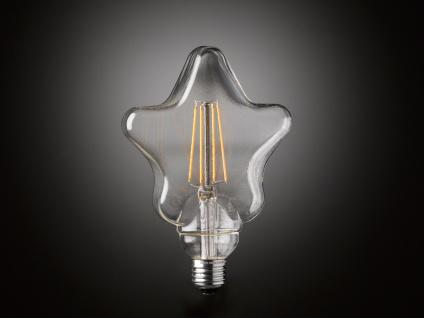 FILAMENT LED Leuchtmittel Sternform 4 Watt, 300 Lumen, 1800 Kelvin, E27-Sockel - Vorschau 5