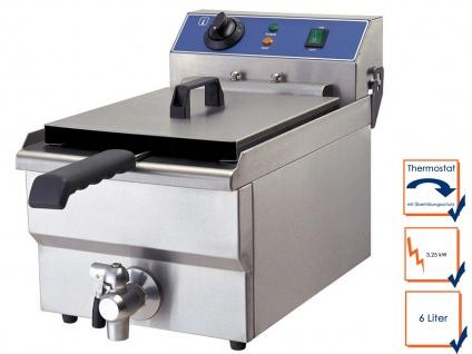 Gastro Fritteuse Chrom-Nickel-Stahl 3, 25 kW, Profi Kaltzonen Fritteuse Friteuse
