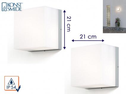 2er Set Konstsmide Außenwandleuchte SANREMO 21x21 cm, Lampe außen bruchsicher