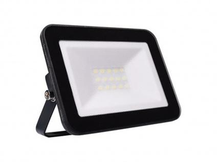 10W LED Strahler schwarz, Fluter mit Befestigungsbügel, flaches Design, IP65