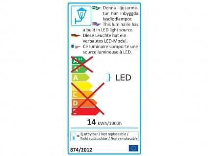 2er Set LED Außenwandleuchte Alu anthrazit IP54 Außenleuchten Wegeleuchten - Vorschau 4