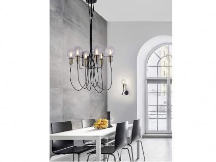 Kronleuchter höhenverstellbar ausgefallen stylish modern Glaskugeln Schwarz matt