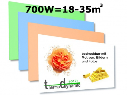 700W Infrarotheizung, Elektroheizung bedruckbar, Bildheizung, Vitalheizung