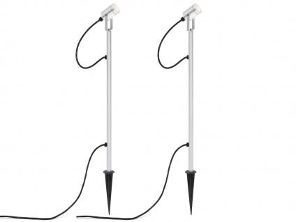 2er LED-Erdspießstrahler Erdspießleuchte Außenstrahler Gartenstrahler MONZA - Vorschau 2