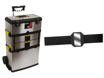 Werkzeugtrolley Stahl 3-Teilig + EASY Work Magnet ? Werkzeug Koffer Kasten