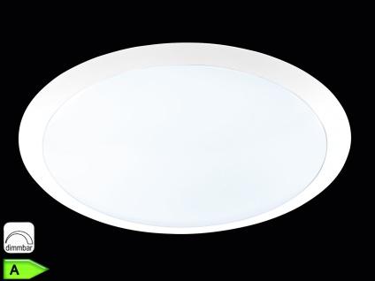 TRIO Dimmbare LED-Deckenlampe, ink. 25W LED, 1500Lm, Ø 42cm, weiß