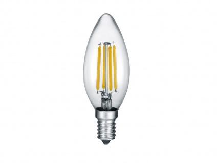 LED Leuchtmittel mit E14 Fassung kerzenförmig, nicht dimmbar mit 4W, 470lm, Glas