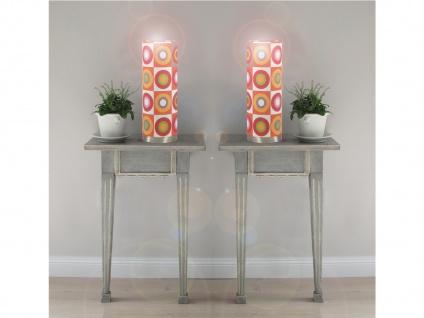 LED Tischlampen 2er-Set, Tischleuchte CLAIRE Retro-Look, inkl. LED 3W, Ø 15 cm