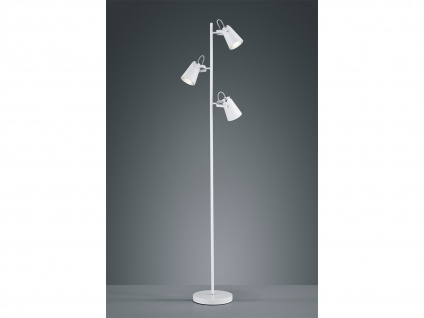 LED Standlampe aus Metall in weiß matt, Spots varialbel - Wohnraumleuchten E14