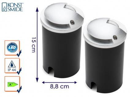 2er-Set LED Bodeneinbaustrahler Bodenleuchte Ø 8, 8 cm, belastbar bis 500kg
