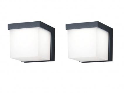 Eckige LED Außenwandleuchten Anthrazit 2 Außenleuchten für Hauswand Außenbereich - Vorschau 2