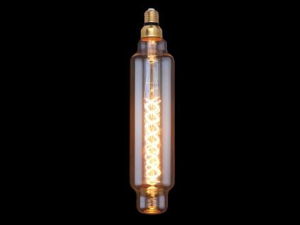 Großes E27 Filament LED Leuchtmittel Stab dimmbar - Glas bernstein Länge 37, 5cm