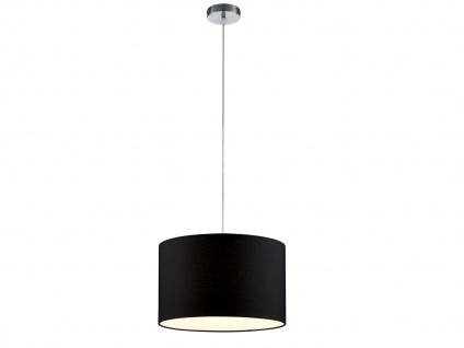 Pendelleuchte mit Stoffschirm Rund Schwarz Hängeleuchten für den Esstisch Lampe