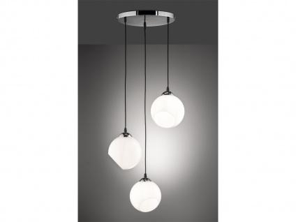 Designer LED Pendelleuchte Lampenschirme Kugelform Ø35m aus Glas 3 flammig weiß