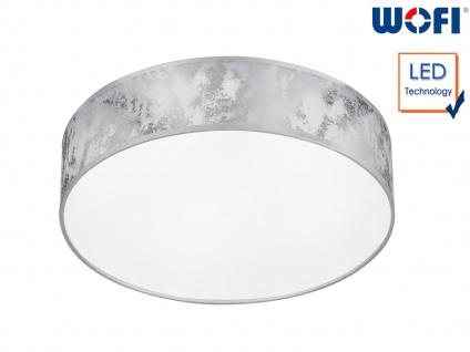 LED Deckenleuchte Ø 40 cm silberfarben 21W Deckenbeleuchtung Wohnzimmer Diele