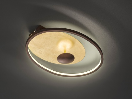 Moderne Lampen 17 : Led deckenlampe in antik braun gold w moderne designlampen