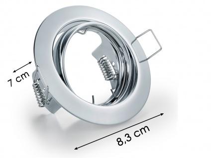 3 Einbaustrahler Decke rund schwenkbar Chrom glänzend GU10 LED Deckenbeleuchtung - Vorschau 5