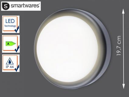 Runde LED Außenwandleuchte schwarz Ø 19, 7cm Außenbeleuchtung Haus Fassade Garten