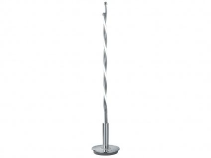 LED Tischleuchte Chrom poliert 16W mit Touch-Dimmer Höhe 85cm - Designlampen