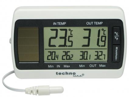 Thermometer, Innen- & Außentemperatur, MIN/MAX Speicher, weiß-grau