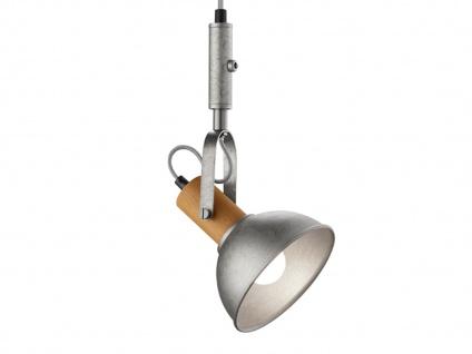Silber antike Pendellampe mit Kabel & Stecker für Steckdose - Schirm schwenkbar - Vorschau 4