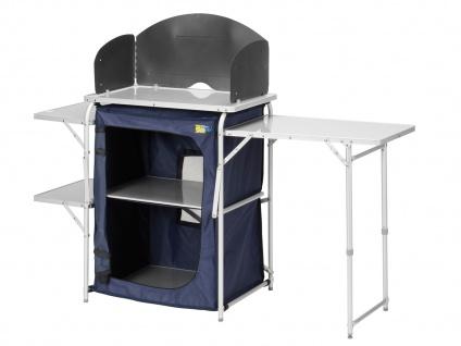 Campingküche 6 Füsse verstellbar Windschutz 143x48cm faltbare Vorzelt-Küche