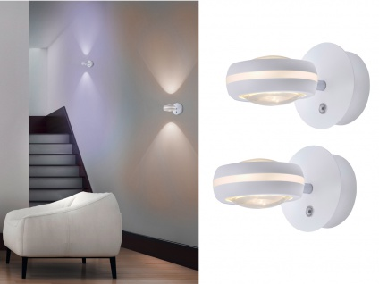 WIZ LED Wandleuchten Weiß matt mit Alexa oder App steuern 2 Stk fürs Wohnzimmer - Vorschau 1