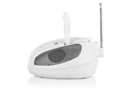 Tragbares Radio weiß mit CD-Spieler & FM Tuner, Aux-in für MP3 Player, Stereo - Vorschau 3