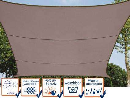 Sonnensegel Quadratisch Braun 5x5m - Sonnenschutz für Terrasse & Balkon