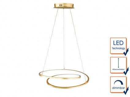 Höhenverstellbare LED Pendelleuchte Gold dimmbar 23W Ø 48, 5cm - Esstischlampen - Vorschau 4