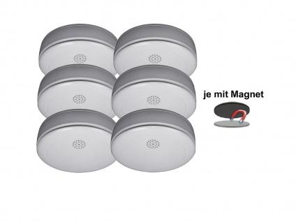 6er SET Rauchmelder 10 Jahres Batterie, VdS & Q-Siegel mit EASY Magnethalterung - Vorschau 2