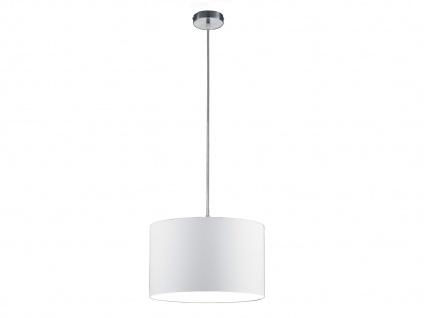 Runde LED Pendelleuchte mit Stoffschirm Weiß - Hängeleuchten für Esstisch Lampen - Vorschau 2