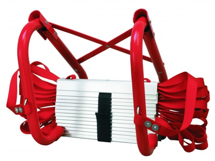 Feuerleiter Notfallleiter 4, 5 m, Universal-Aufhänger, bis 450 kg belastbar
