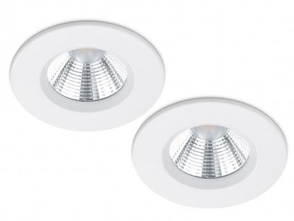 LED Einbaustrahler Decke 2er Set rund dimmbar Weiß matt 5, 5W - Deckenleuchten