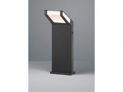 LED Außenbeleuchtug - Eckiger Pfosten mit Dämmerungssensor, Aluminium Anthrazit