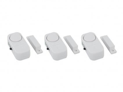 3er-Pack Türalarm und Fensteralarm Einbruchschutz 85dB Alarmmelder Glasbruch