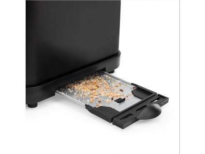 Kompakter Design Toaster Edelstahl Schwarz matt Aufwärm- & Auftaufunktion 950W - Vorschau 5