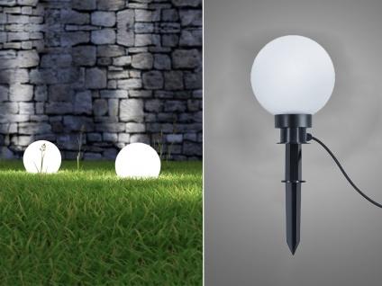 LED Kugelleuchte für den Garten Strom Ø 20 cm Dekokugeln Beetleuchten Weglampen