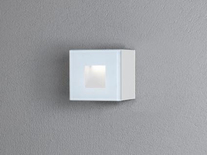 LED Wandspot Unterputz Außenwandleuchte Auf-& Einbauleuchte in weiß IP54 8x8cm