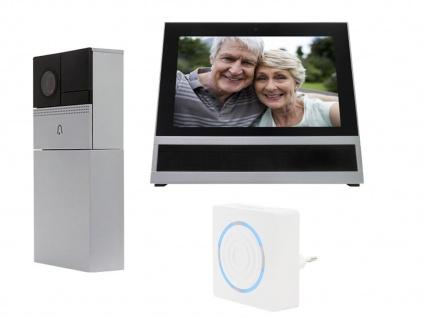 Wifi Videotürsprechanlage mit Monitor & Gong für Einfamilienhaus, Smartphone App