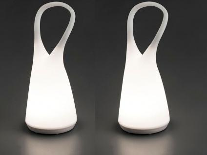 2er Set dimmbare LED Tischlampen Stimmungsleuchten ohne Kabel für innen & außen