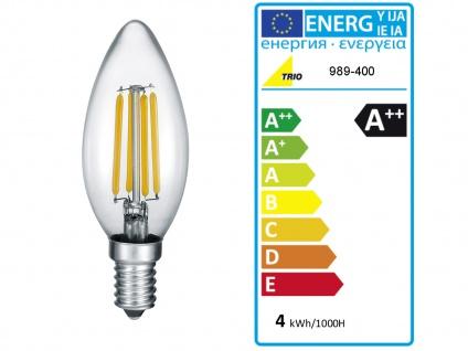 Ausgefallene LED Tischleuchte Zylinder Tischlampe Nachttischlampe Rauchglas - Vorschau 5