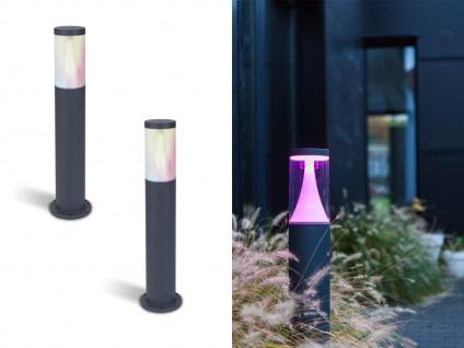 Hochwertige Smarthome LED Wegeleuchten aus ALU IP65 wetterfest mit Farbwechsel