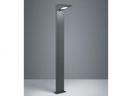 LED Wegeleuchte mit Bewegungsmelder Anthrazit Stehlampe Gartenlampen mit Strom