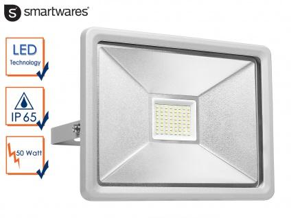 50W Strahler grau Baustrahler LED neutralweiß Scheinwerfer Arbeitsleuchte Fluter