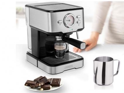 Siebträger Espresso & Kapselmaschine mit Milchaufschäumer für 1 oder 2 Tassen - Vorschau 1