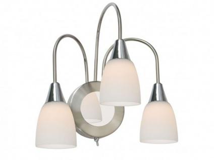 LED Wandlampe Nickel / Chrom / Glas, Schalter, Wofi-Leuchten