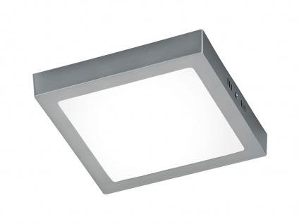 LED Deckenleuchte Deckenlampe ZEUS Nickel matt Acryl weiß B. 22, 5 cm