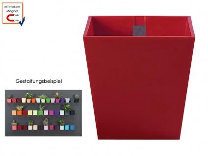 Kunststofftopf mit Magnet Ø 6 cm Rot, Wanddeko Wandaufbewahrung, KalaMitica